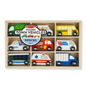 Melissa & Doug 3170 Wooden Town Vehicles Set