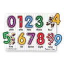 Melissa & Doug 3273 See-Inside Numbers Peg Puzzle - 10 pieces