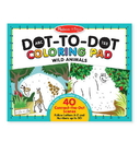 Melissa & Doug 9104 ABC 123 Dot-to-Dot Coloring Pad - Wild Animals