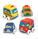 Melissa & Doug 9168 Pull-Back Vehicles Baby and Toddler Toy