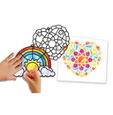 Melissa & Doug 9294 Stained Glass Made Easy - Rainbow & Hearts Ornaments
