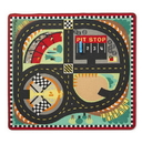Melissa & Doug 9401 Round the Speedway Race Track Rug & Car Set