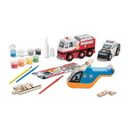 Melissa & Doug 9528 Decorate-Your-Own Wooden Rescue Vehicles Set