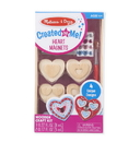Melissa & Doug 9643 Created by Me! Heart Magnets Wooden Craft Kit