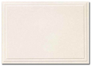 Great Papers 161642 Triple Embossed Ivory Note Cards