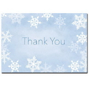 Winter Flakes Thank You Note Card, 500 pack