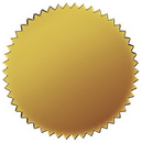 Great Papers 901200 Gold Seals, 50pk