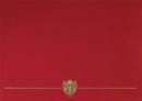 Masterpiece Studios 903031 Red Classic Certificate Cover