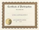 Masterpiece Studios 930800 Participation Stock Certificate