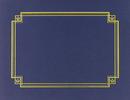 Masterpiece Studios 938903 Navy Linen Certificate Cover