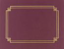 Masterpiece Studios 939503 Burgundy Linen Certificate Cover