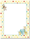 Baby Zoo Animals Letterhead - 25 pack