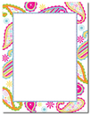Great Papers 2012026 Patterned Paisley Letterhead - 80 Sheets/Pack