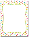Great Papers 2012410 Circus Dots Letterhead - 80 Sheets/Pack