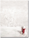 Great Papers Snowman In Red Scarf Letterhead - 25 Sheets/Pack