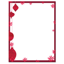 Great Papers Painted Poinsettia Letterhead - 25 Sheets/Pack