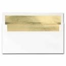 White Gold Foil Envelopes, 50 Pack