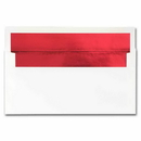 White Red Foil Envelopes, 25 Pack