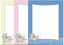The Image Shop OLH004 Baby Carriage Letterhead, 100 pack