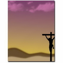 The Image Shop OLH007 Crucifixion Letterhead, 100 pack
