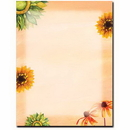 The Image Shop OLH008 Sunny Flowers Letterhead, 100 pack