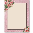 The Image Shop OLH009-25 Pink Lilies Letterhead, 25 pack