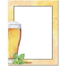 The Image Shop OLH022-25 Beer Glass Letterhead, 25 pack