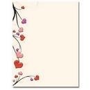 The Image Shop OLH124 Heart Vines Letterhead, 100 pack