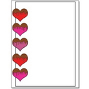 The Image Shop OLH166-25 Chocolate Covered Hearts Letterhead, 25 pack