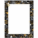 The Image Shop OLH465 Gold & Silver Swirls Letterhead, 100 pack