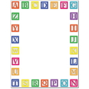 The Image Shop OLH488 Alphabet Blocks Letterhead, 100 pack