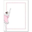 The Image Shop OLH489-25 Ballerina Letterhead, 25 pack