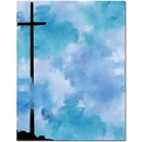 The Image Shop OLH547 Tall Cross Letterhead, 100 pack