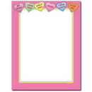 The Image Shop OLH662 Conversation Hearts Letterhead, 100 pack