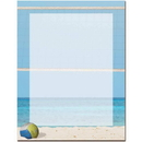 The Image Shop OLH721-25 Beach Volleyball Letterhead, 25 pack
