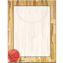The Image Shop OLH727 Basketball Court Letterhead, 100 pack