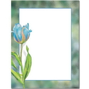 The Image Shop OLH915 Blue Tulip Letterhead, 100 pack