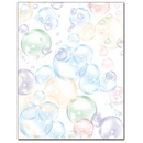 Floating Bubbles Letterhead - 100 pack