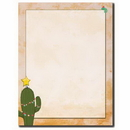 The Image Shop OLHX34-25 Christmas Cactus Letterhead, 25 pack
