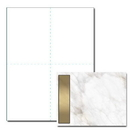 Gold Marble Post Card, 100 pack