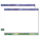 Impressionistic Trifold Brochure, Blank Parchment Post Card, 65lb Cover