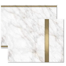 Gold Marble Trifold Brochure, Blank Parchment Post Card, 65lb Cover