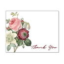 Vintage Bouquet Thank You Note Card, Blank Parchment Post Card, 65lb Cover