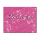 Scribbled Thank You Note Card, Blank Parchment Post Card, 65lb Cover