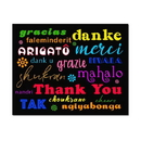 Multicultural Black Thank You Card, Blank Parchment Post Card, 65lb Cover