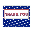 American Stars Thank You Card, Blank Parchment Post Card, 65lb Cover