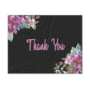 Apple Blossoms Thank You Card, Blank Parchment Post Card, 65lb Cover