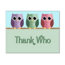 Thank Who Thank You Card, Blank Parchment Post Card, 65lb Cover