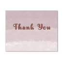 Rose Ombre Thank You Note Card, Blank Parchment Post Card, 65lb Cover