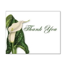 Calla Lily Thank You Card, Blank Parchment Post Card, 65lb Cover